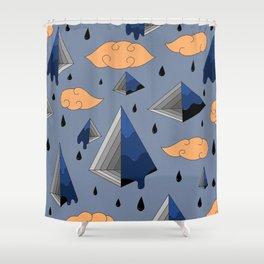 Blue Py Shower Curtain