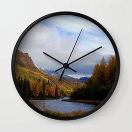 Matanuska River Alaska Wall Clock