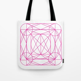 Stained Glass- Pink Tote Bag
