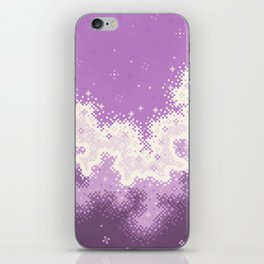Lavender Chevron Queer Pride Galaxy iPhone Skin