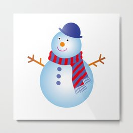 SNOW MAN Metal Print