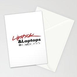 Lipstick and Laptops #GirlBoss Stationery Cards