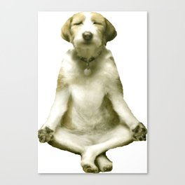 Yoga Dog Canvas Print