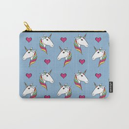 Rainbow Unicorn Head Pattern Carry-All Pouch