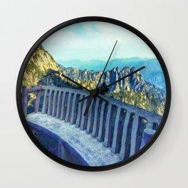 Huangshan lookout, China Wall Clock