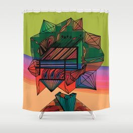 """Exploration Hives"" Shower Curtain"