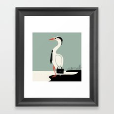 Back to work Framed Art Print