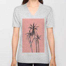 Palm Trees - Apricot Blush Cali Summer Vibes #1 #decor #art #society6 Unisex V-Neck