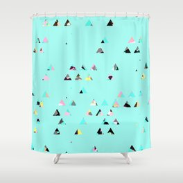 tringle mix/ bright Shower Curtain