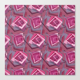 Unravelled Pink and Grey Canvas Print