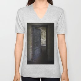 Clerks door Unisex V-Neck