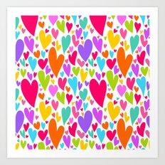 Cute colorful heart Art Print