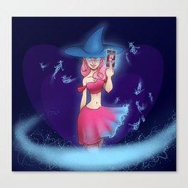 Wild Card Witch Canvas Print