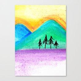 Mountains sunset landscape Canvas Print