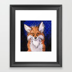 Fox Hypnosis Framed Art Print