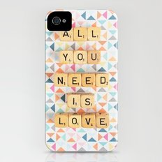 All You Need is Love iPhone (4, 4s) Slim Case