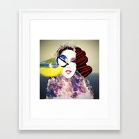 no face Framed Art Prints featuring Face by Cs025