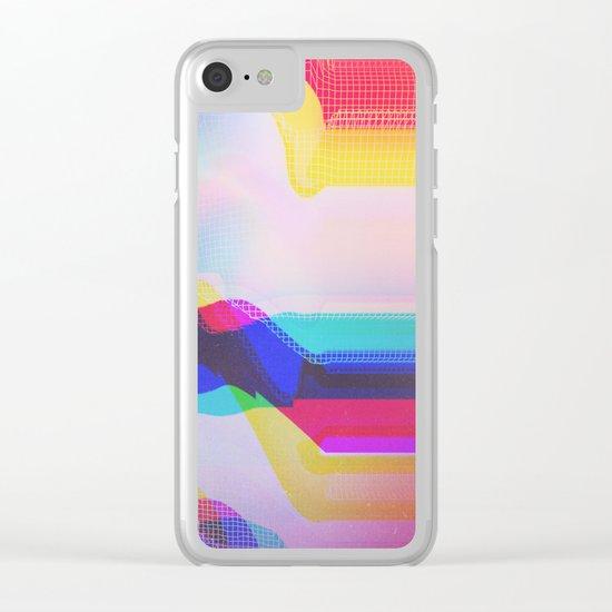 Glitch 27 Clear iPhone Case