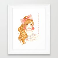girly Framed Art Prints featuring Girly by ilovevanilla