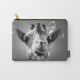 Cool Giraffe Black and White Carry-All Pouch