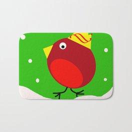 Merry Christmas Robin Bath Mat
