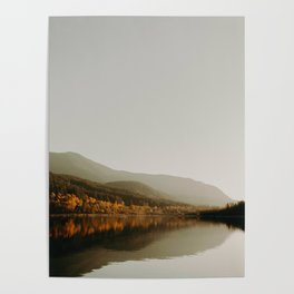 The Faded Forest on a River (Color) Poster