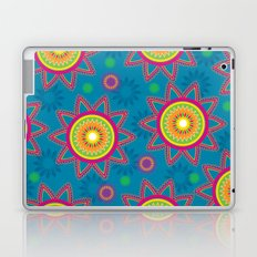 Moroccan Flower Blue Laptop & iPad Skin