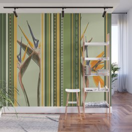 Bird of Paradise with stripes Wall Mural