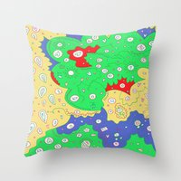 jenny liz rome Throw Pillows featuring Liz by Amanda Trader