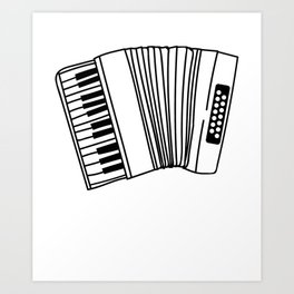 Accordion Player Melodeon Piano Accordionist Gift Art Print