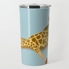 Rollerskating Giraffe Travel Mug