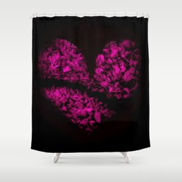 Ice Pink Heart Shower Curtain