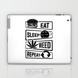 Eat Sleep Weed Repeat - Cannabis Mary Jane THC CBD Laptop & iPad Skin