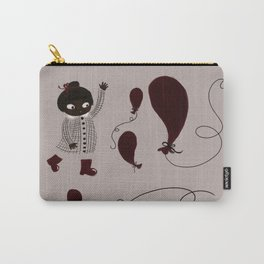 Little girl with balloons Carry-All Pouch