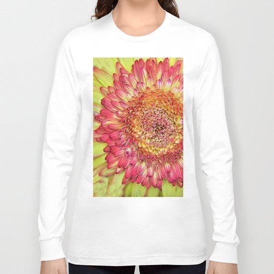 Flower yallow pink Long Sleeve T-shirt