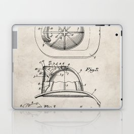 Firemans Helmet Patent - Fire Fighter Art - Antique Laptop & iPad Skin