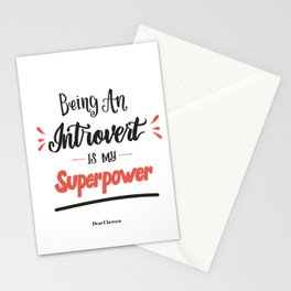 My Superpower Stationery Cards