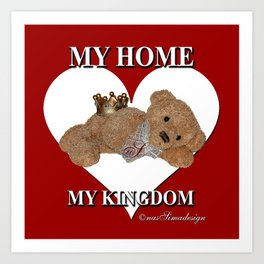 My Home, My Kingdom - Red Art Print