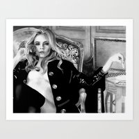 cara delevingne Art Prints featuring cara delevingne by donotseemeart