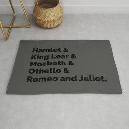 Shakespeare Plays II Rug