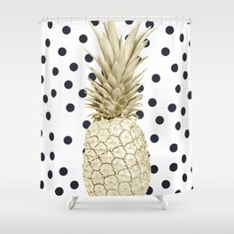 Pineapple Polka Dots Shower Curtain