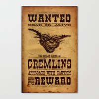gremlins Canvas Prints featuring Wanted Gremlins by NicoWriter