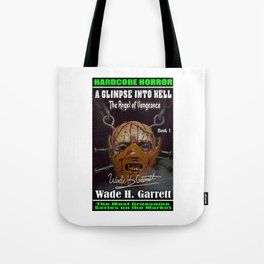 """The Angel of Vengeance"" book cover art with signature Tote Bag"