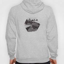 Mountain Peaks Digital Art Hoody