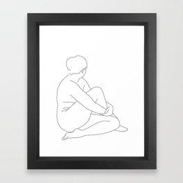 Nude life drawing figure - Brit Framed Art Print