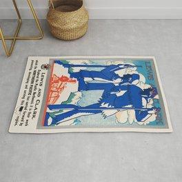 Vintage poster - Pacific northwest Rug