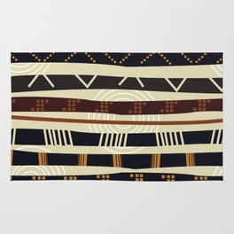 African Tribal Pattern No. 35 Rug