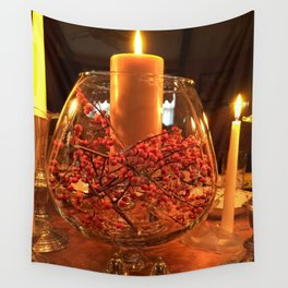Glass Bowl Candle Decor Wall Tapestry