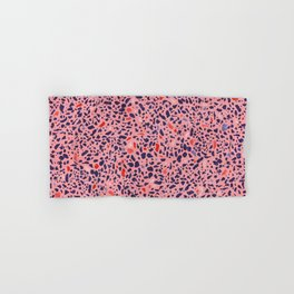 Terrazzo pink red blue Hand & Bath Towel