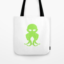 Lovecraftian Styled Octopus Logo - Green Tote Bag